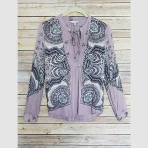 Lucky Brand Paisley Blouse Medium